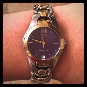 Silver & gold tone watch