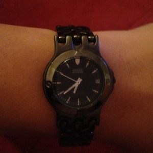 Black Chrome Guess Watch