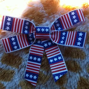 💙🇺🇸Cute Patriotic American Flag Hair Bow🇺🇸💙