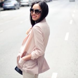 Reserved! Pale pink color-block blazer