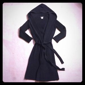 J. Crew Sweaters - J. CREW BLACK LONG SWEATER CARDIGAN