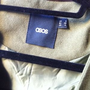 ASOS Jackets & Coats - ASOS Blazer with Leather Look Sleeves