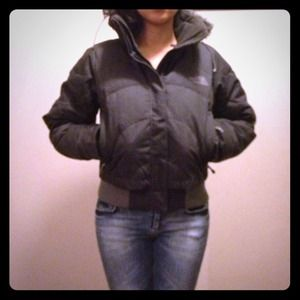 North Face Jackets & Blazers - THE NORTH FACE FURALLURE DENIM DARK GREY JACKET XS