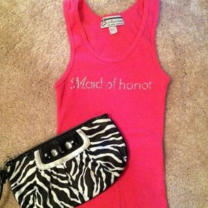 Tops - Pink maid of honor tank top