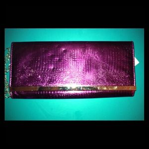 NWT purple clutch