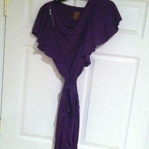 Ali ro purple ruffle  dress