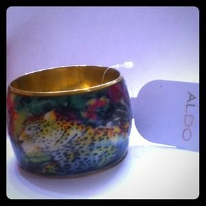 "ALDO Jewelry - Aldo Cuff Bangle 2"" Exotic Jungle Leopard Braclet"
