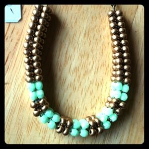 Hand- beaded necklace with czech glass beads