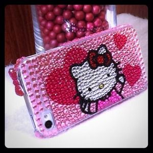 Accessories - Rhinestones Hello Kitty iPhone 4/4s Case