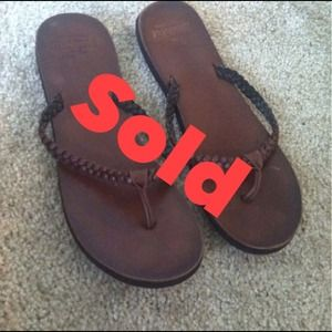 Hollister Shoes - Sold!! Like brand new, Hollister flip flops