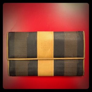FENDI Clutches & Wallets - REDUCED! Authentic Fendi stripe wallet