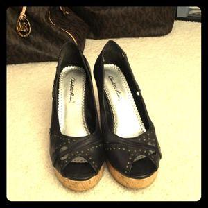 Charlotte Russe Shoes - 👠 Cute peep toe wedges 👠