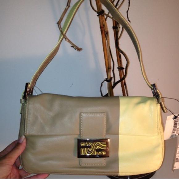 FENDI Handbags - AUTHENTIC TAN/YELLOW FENDI HANDBAG - BRAND NEW!