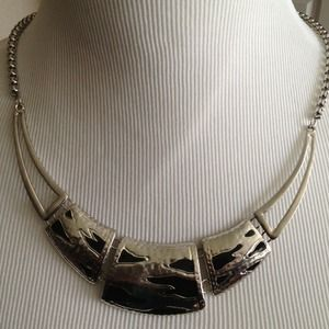 Vintage Silver Plated Collar Bone Necklace