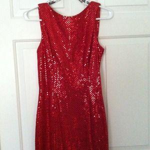 Zum Zum Classic Red Sequin Gown