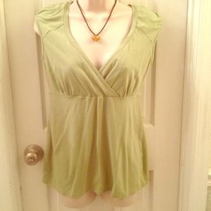 Cute green maternity nursing top size Medium