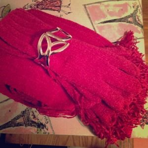Accessories - gloves/scarf set NWOT super soft fuchsia color
