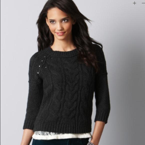 58% off Ann Taylor Loft Sweaters - RESERVED ANN TAYLOR LOFT Gray ...