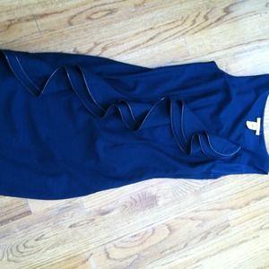 Catherine Malandrino wool dress with zipper detail