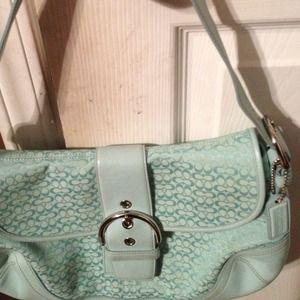 ✂✂Reduced: Authentic Aqua Coach purse.