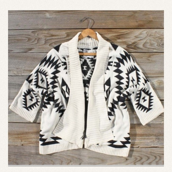 Boutique Sweaters - Cozy and trendy Aztec sweater.