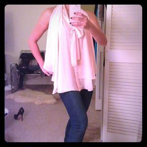 Floaty pink chiffon blouse
