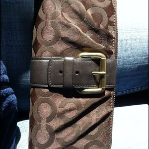 Coach Clutches & Wallets - Coach large zip wallet