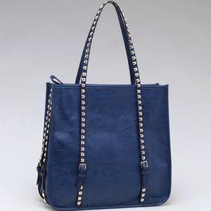 Handbags - Square Fashion Shoulder Bag w/ Studded Straps