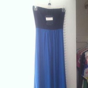Brand new Heidi slinky bandeau maxi dress ROYAL