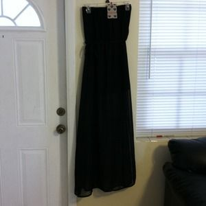 new talia bandeau maxi dress with side splits