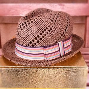 Forever 21 fedora style straw hat