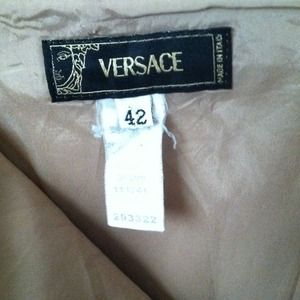 Versace Skirts - Reduced Again! Gorgeous Beige Versace Skirt!