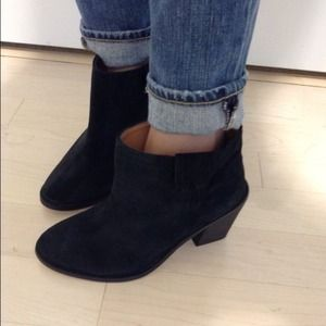 Zara Boots - Zara black suede booties