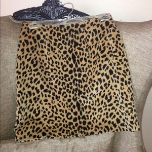 Cache Dresses & Skirts - CACHE Cheetah Skirt