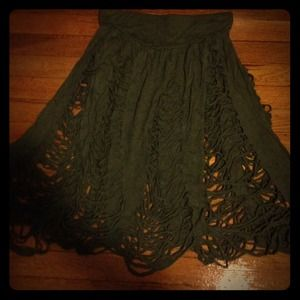 Cheap Monday distressed olive skirt. Size large.