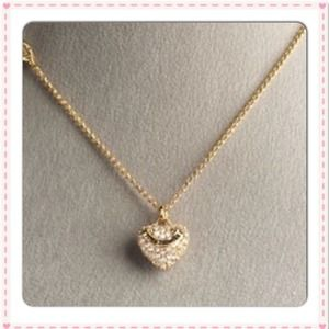 Juicy Couture Jewelry - ❌SOLD❌Juicy Couture Pave Heart Logo Gold Necklace