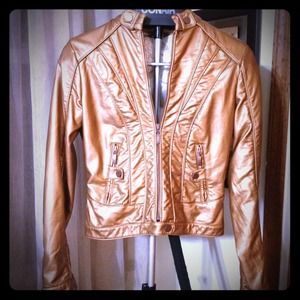 Arden B Jackets & Coats - REDUCED AGAIN!! Gold faux leather jacket