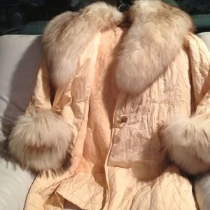 Natural North Montreal Jackets & Coats - Zimmerman Fur- Peach w/ Fox collar & sleeve