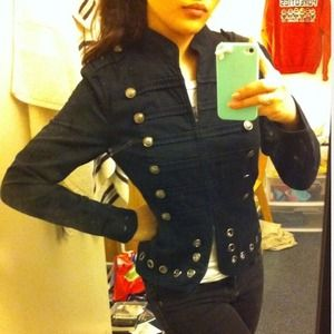 💋Black military blazer jacket
