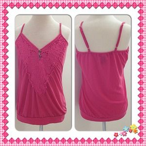 Tops - Pink tank top