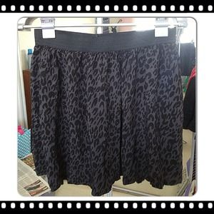 Dresses & Skirts - Black/grey cheetah skirt