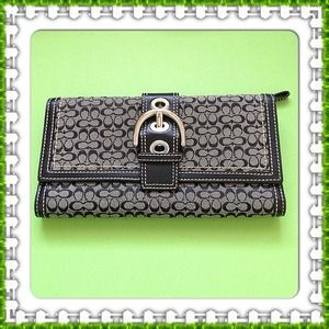 Coach Clutches & Wallets - Authentic black coach wallet