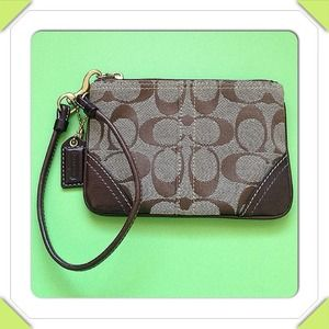 Coach Clutches & Wallets - Authentic brown coach wristlet
