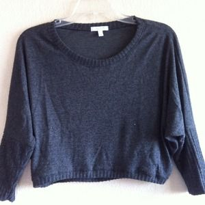 Charcoal Gray Crop Top Sweater