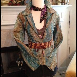 Watercolor jacket denim Mini Skirt Bundle Deal