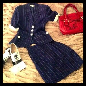 Dior Dresses & Skirts - Stunning Vintage Pinstriped Dior Skirt Suit 2
