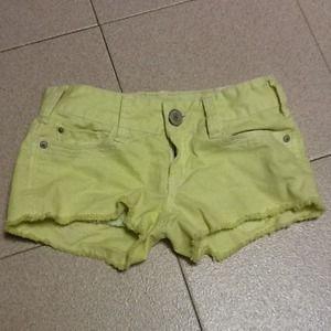 Neon shorts.