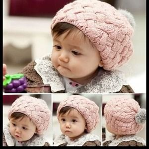 Other - Baby Pink kids Beanie