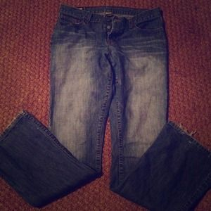 Abercrombie button fly 6long stonewashed jeans