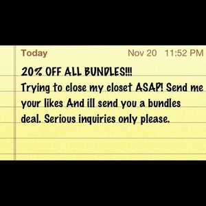 20% OFF ALL BUNDLES!